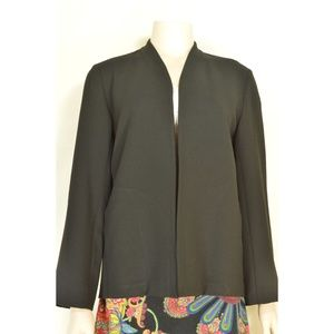 Eileen Fisher jacket SZ S black rayon wool blend c